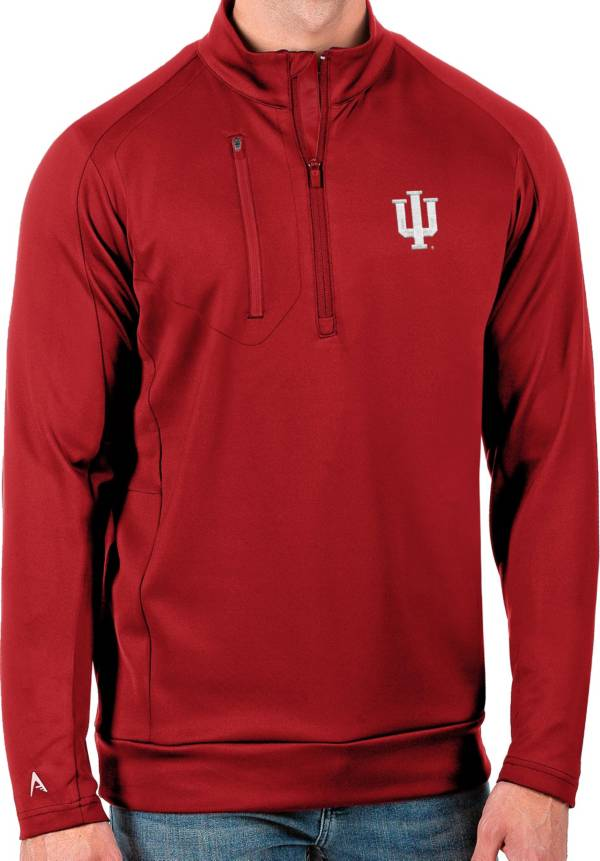 Antigua Men's Indiana Hoosiers Crimson Generation Half-Zip Pullover Shirt product image