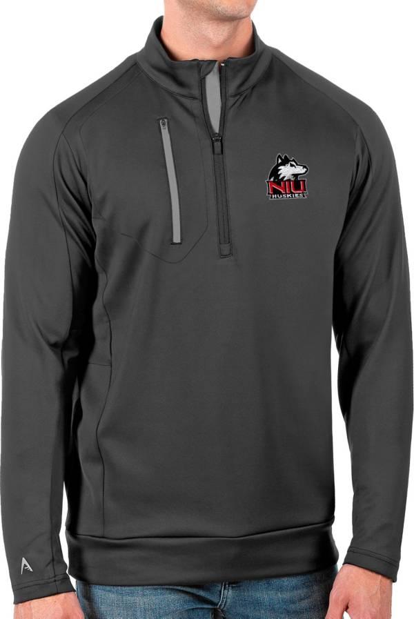 Antigua Men's Northern Illinois Huskies Grey Generation Half-Zip Pullover Shirt product image