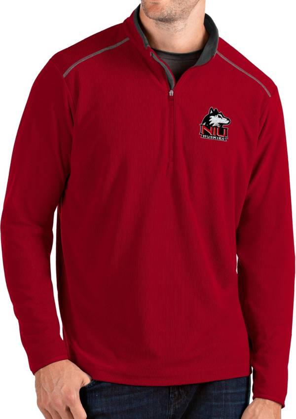 Antigua Men's Northern Illinois Huskies Cardinal Glacier Quarter-Zip Shirt product image