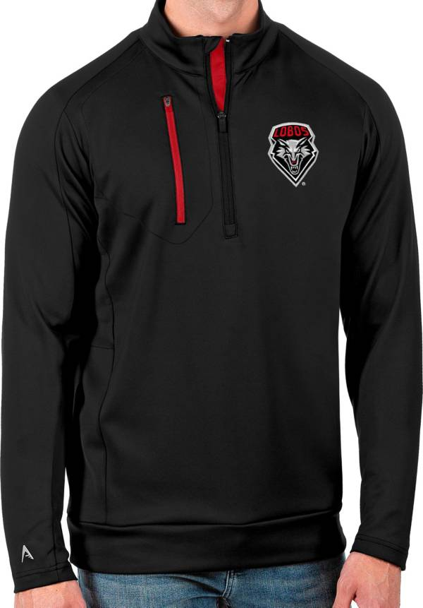 Antigua Men's New Mexico Lobos Black Generation Half-Zip Pullover Shirt product image