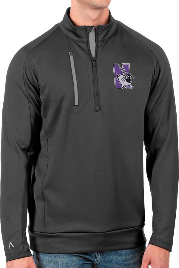 Antigua Men's Northwestern Wildcats Grey Generation Half-Zip Pullover Shirt product image