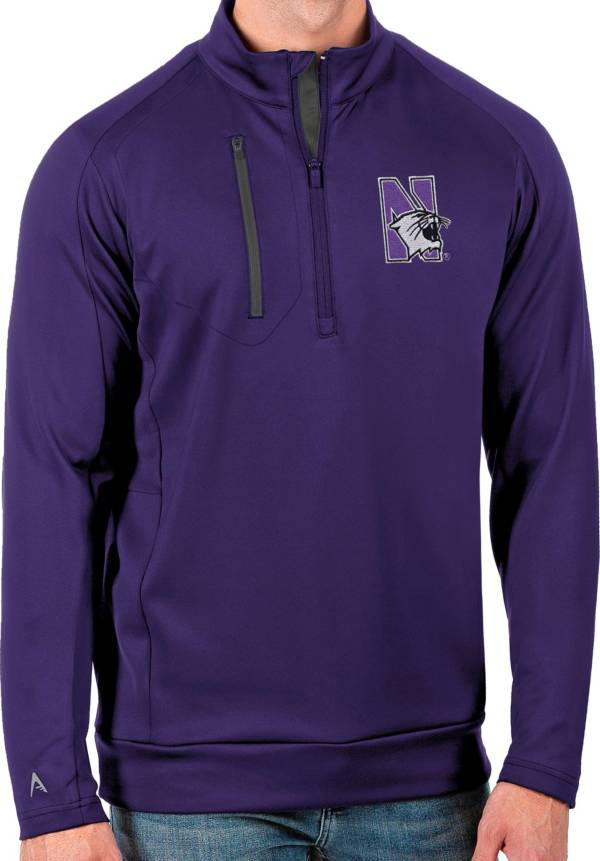 Antigua Men's Northwestern Wildcats Purple Generation Half-Zip Pullover Shirt product image