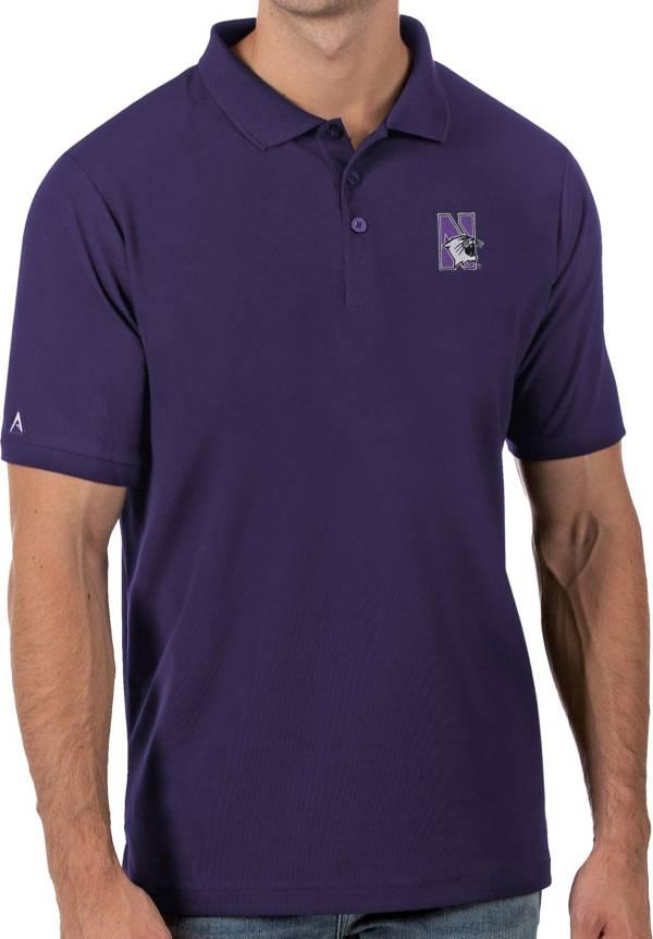 Antigua Men's Northwestern Wildcats Purple Legacy Pique Polo product image