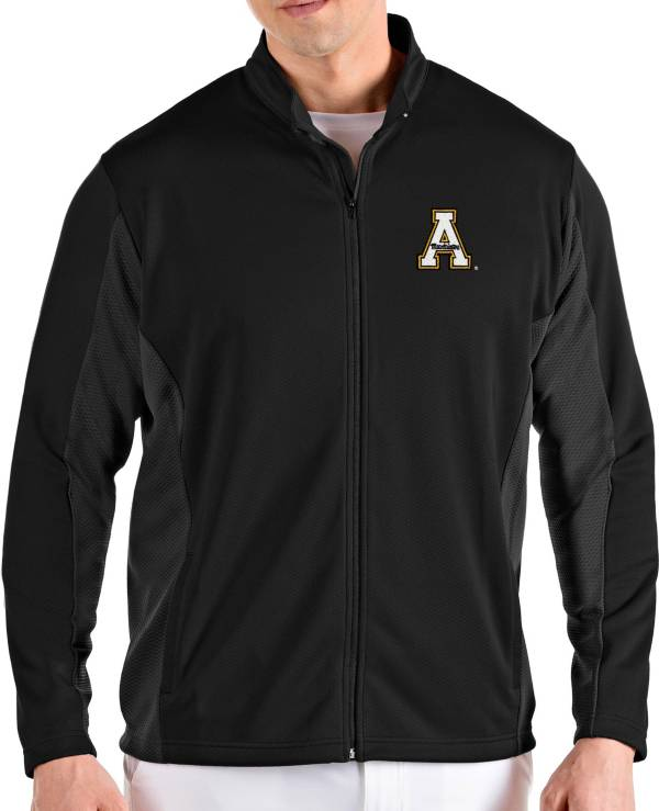 Antigua Men's Appalachian State Mountaineers Passage Full-Zip Black Jacket product image
