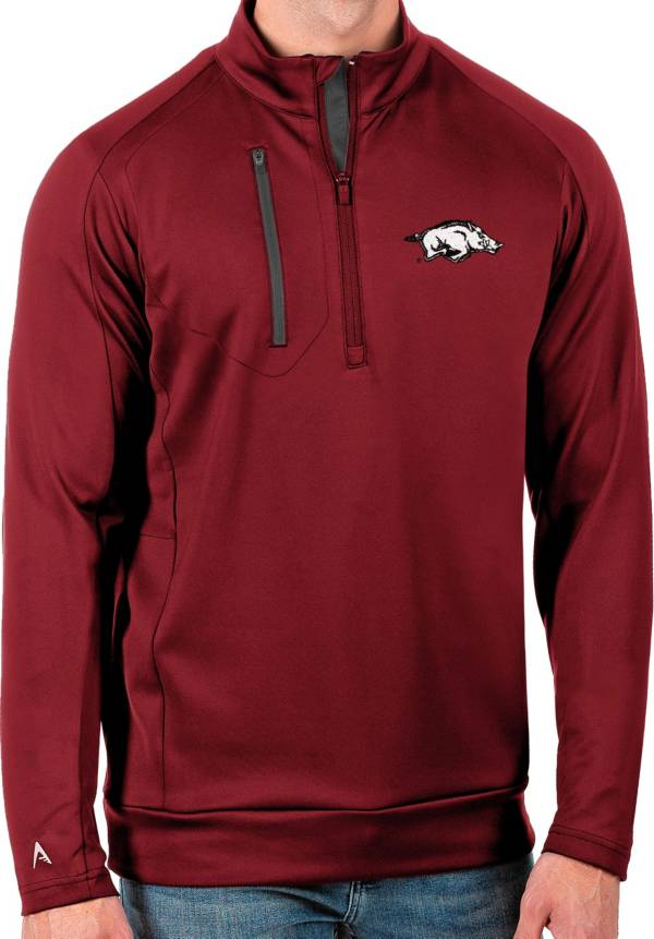 Antigua Men's Arkansas Razorbacks Cardinal Generation Half-Zip Pullover Shirt product image