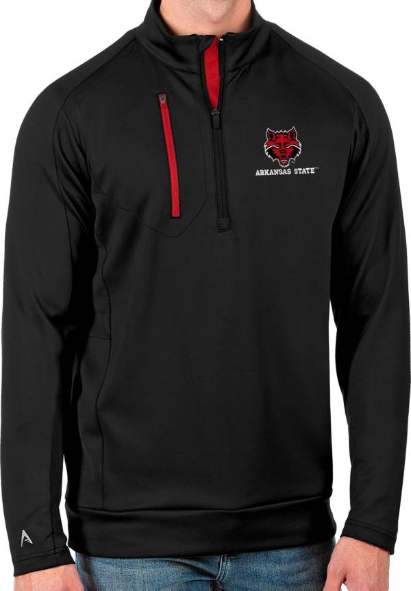 Antigua Men's Arkansas State Red Wolves Black Generation Half-Zip Pullover Shirt product image