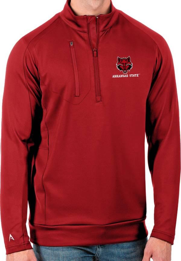 Antigua Men's Arkansas State Red Wolves Scarlet Generation Half-Zip Pullover Shirt product image