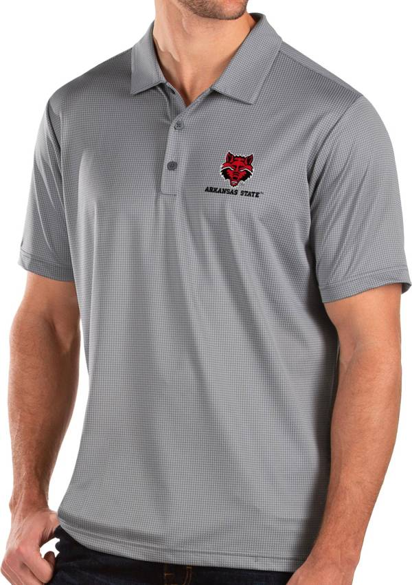 Antigua Men's Arkansas State Red Wolves Grey Balance Polo product image