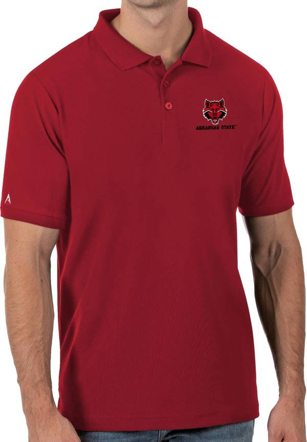 Antigua Men's Arkansas State Red Wolves Scarlet Legacy Pique Polo product image
