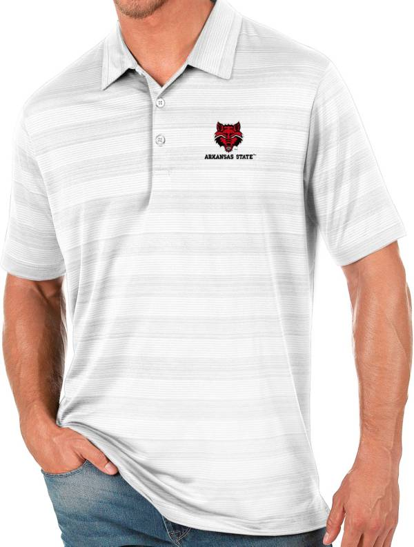Antigua Men's Arkansas State Red Wolves White Compass Polo product image