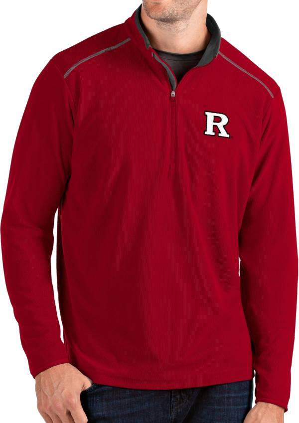 Antigua Men's Rutgers Scarlet Knights Scarlet Glacier Quarter-Zip Shirt product image