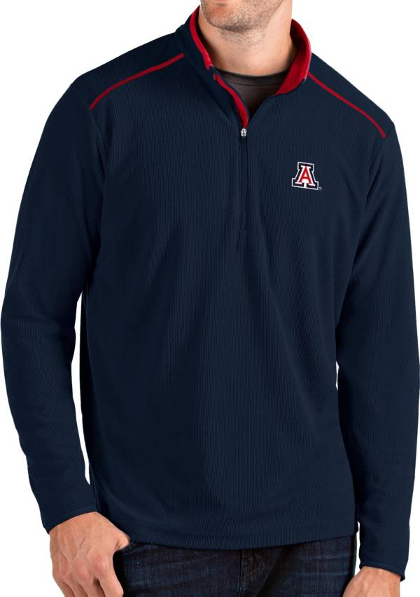 Antigua Men's Arizona Wildcats Navy Glacier Quarter-Zip Shirt product image