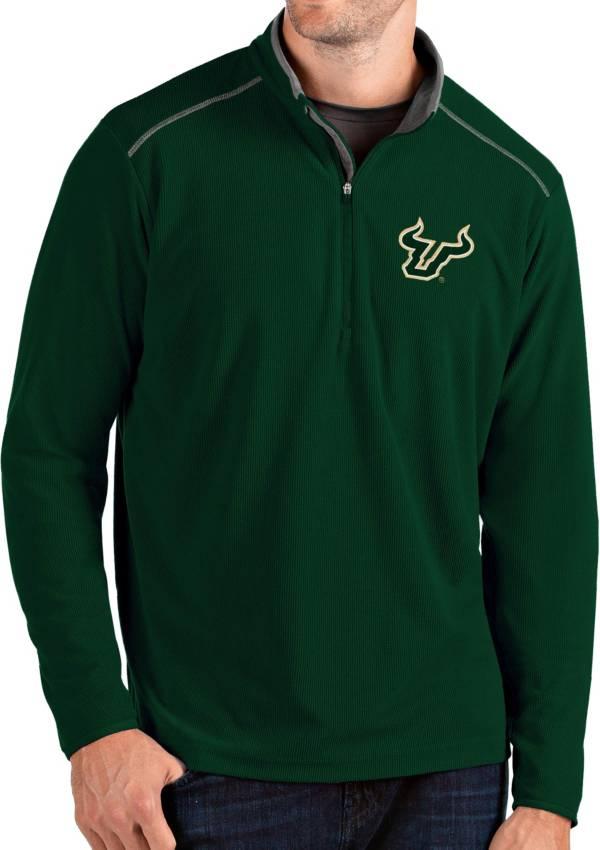 Antigua Men's South Florida Bulls Green Glacier Quarter-Zip Shirt product image