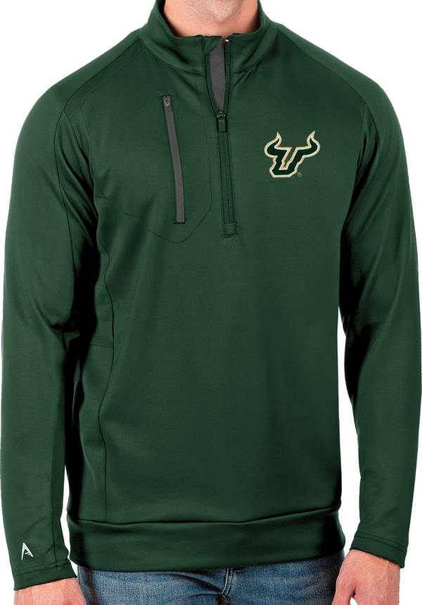 Antigua Men's South Florida Bulls Green Generation Half-Zip Pullover Shirt product image