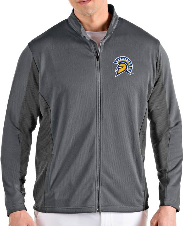 Antigua Men's San Jose State  Spartans Grey Passage Full-Zip Jacket product image