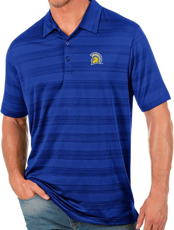 Antigua Men's San Jose State  Spartans Blue Compass Polo product image