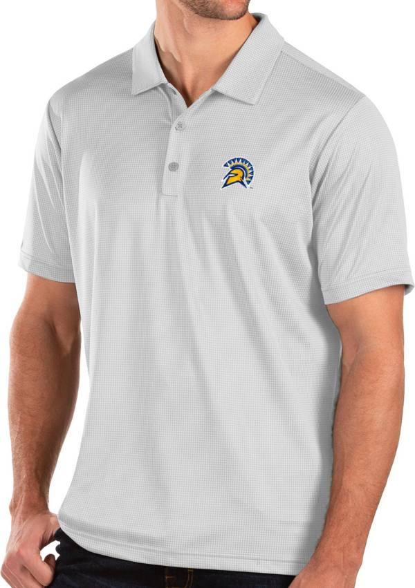 Antigua Men's San Jose State  Spartans Balance White Polo product image