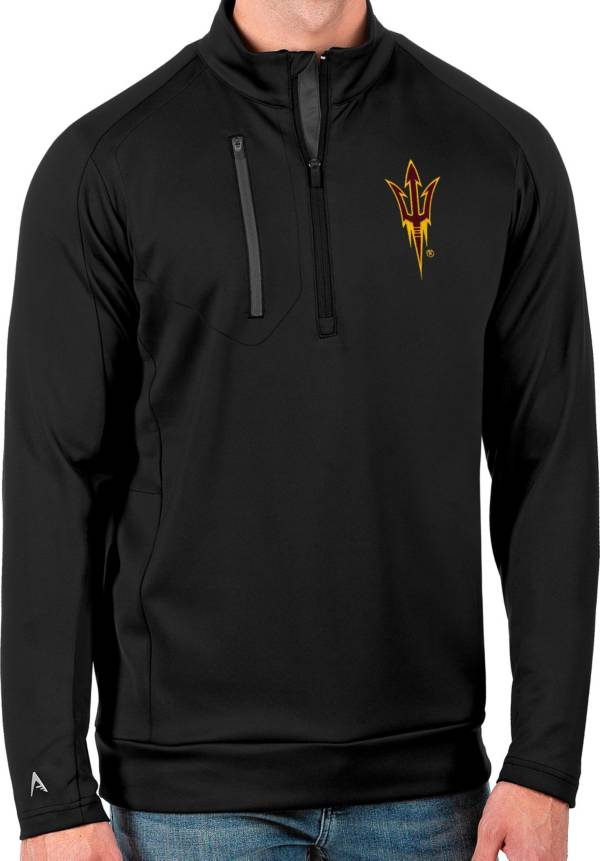 Antigua Men's Arizona State Sun Devils Black Generation Half-Zip Pullover Shirt product image