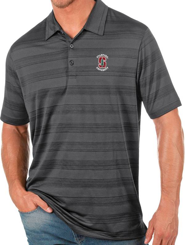 Antigua Men's Stanford Cardinal Grey Compass Polo product image