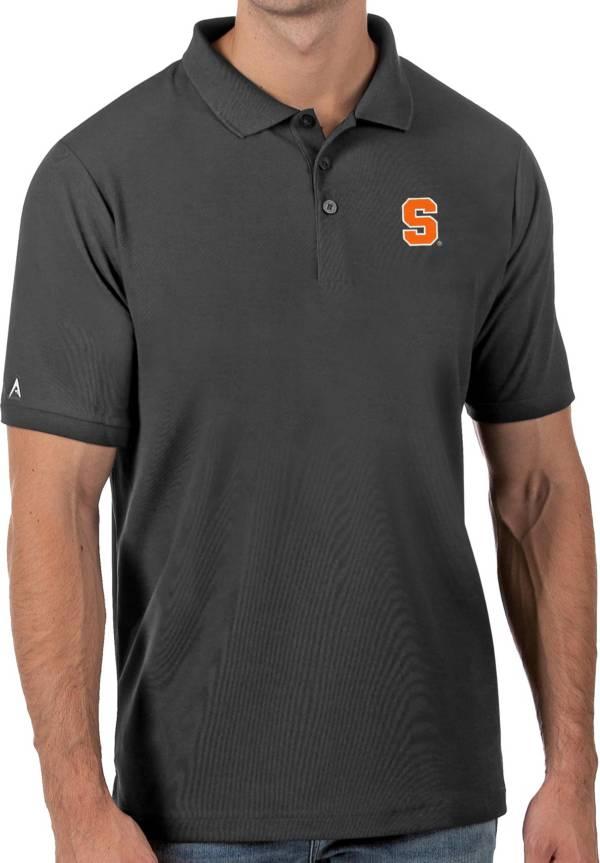 Antigua Men's Syracuse Orange Grey Legacy Pique Polo product image