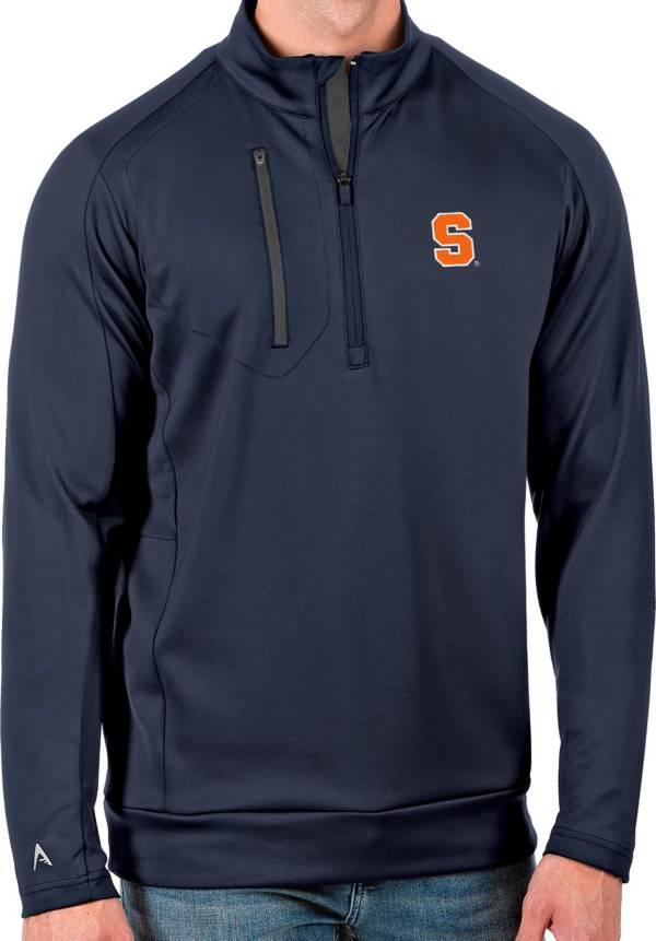 Antigua Men's Syracuse Orange Blue Generation Half-Zip Pullover Shirt product image