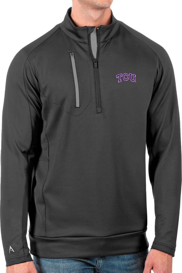 Antigua Men's TCU Horned Frogs Grey Generation Half-Zip Pullover Shirt product image
