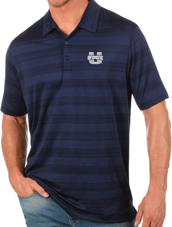 Antigua Men's Utah State Aggies Blue Compass Polo product image