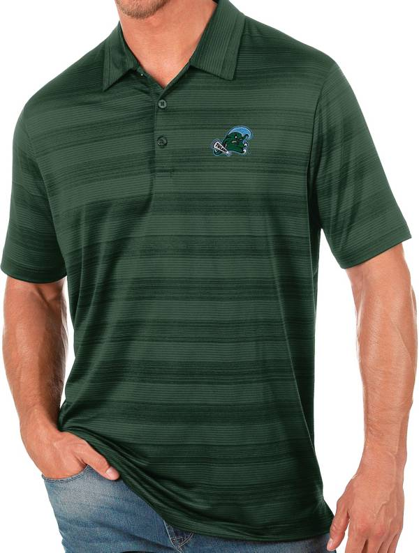 Antigua Men's Tulane Green Wave Olive Compass Polo product image