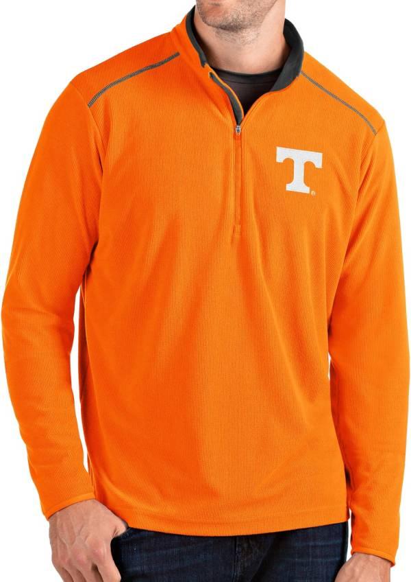 Antigua Men's Tennessee Volunteers Tennessee Orange Glacier Quarter-Zip Shirt product image