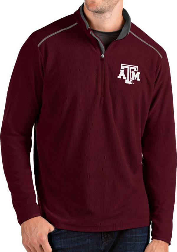 Antigua Men's Texas A&M Aggies Maroon Glacier Quarter-Zip Shirt product image