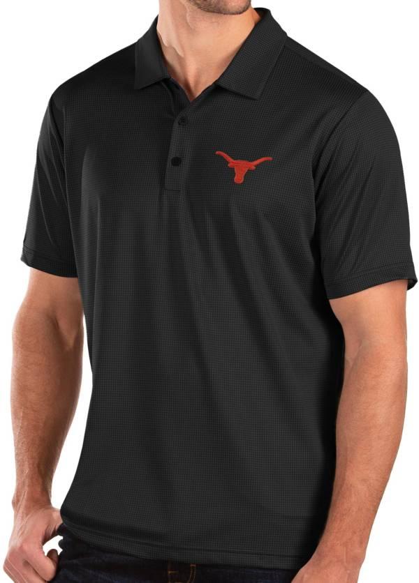 Antigua Men's Texas Longhorns Balance Black Polo product image