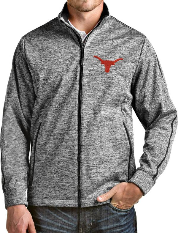 Antigua Men's Texas Longhorns Full-Zip Golf Black Jacket product image