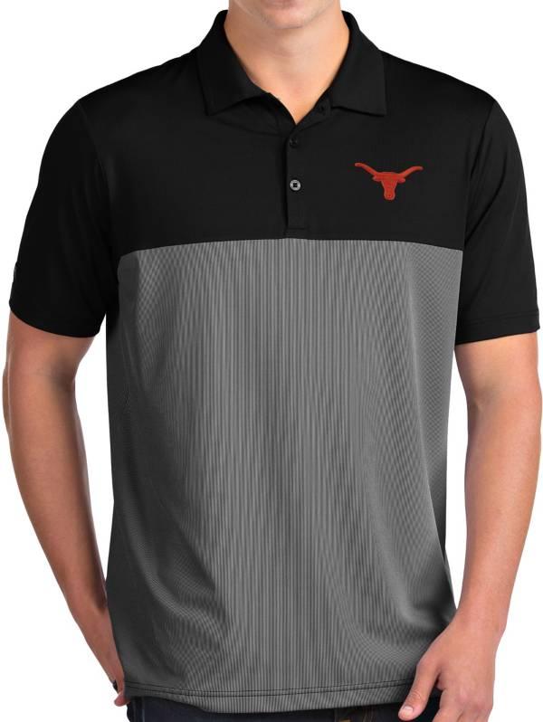 Antigua Men's Texas Longhorns Venture Black Polo product image