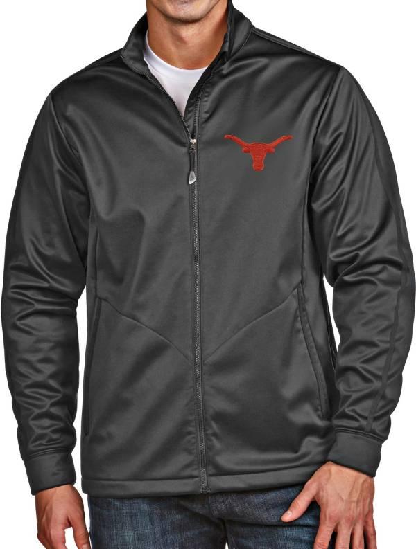 Antigua Men's Texas Longhorns Grey Full-Zip Golf Jacket product image