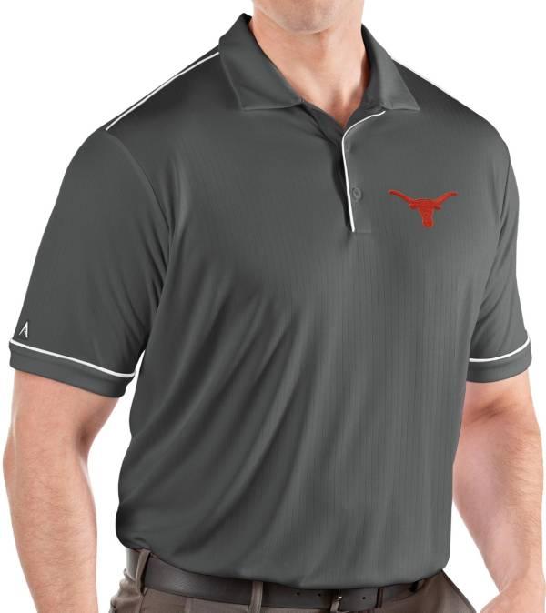 Antigua Men's Texas Longhorns Grey Salute Performance Polo product image