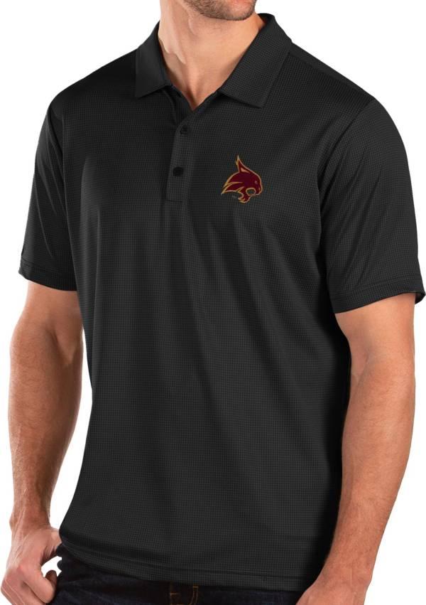 Antigua Men's Texas State Bobcats Balance Black Polo product image
