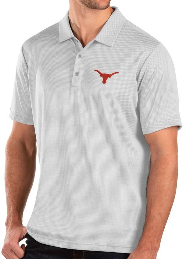 Antigua Men's Texas Longhorns Balance White Polo product image