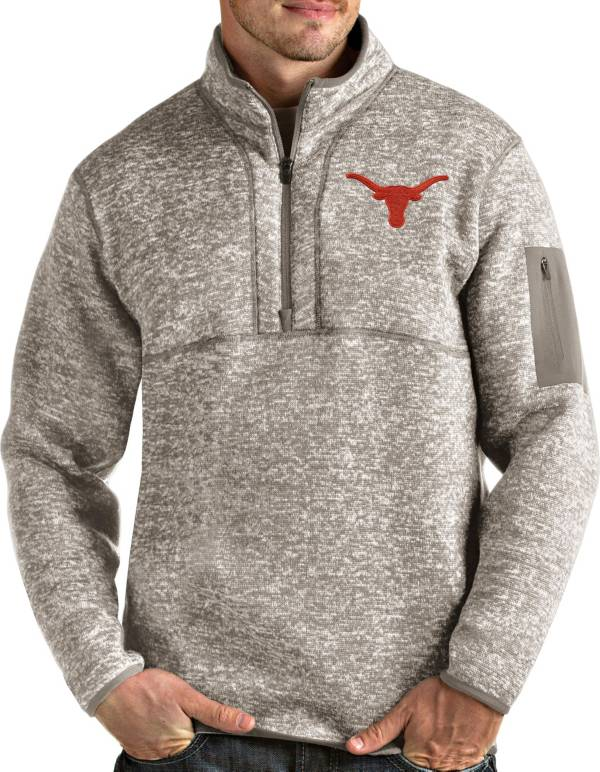 Antigua Men's Texas Longhorns Fortune Pullover White Jacket product image