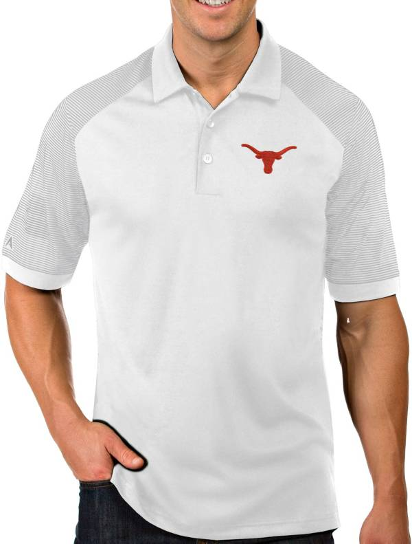 Antigua Men's Texas Longhorns Engage Performance White Polo product image