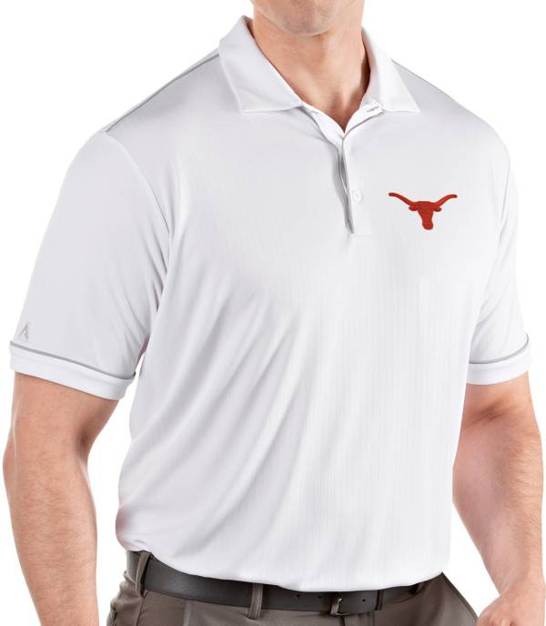 Antigua Men's Texas Longhorns Salute Performance White Polo product image