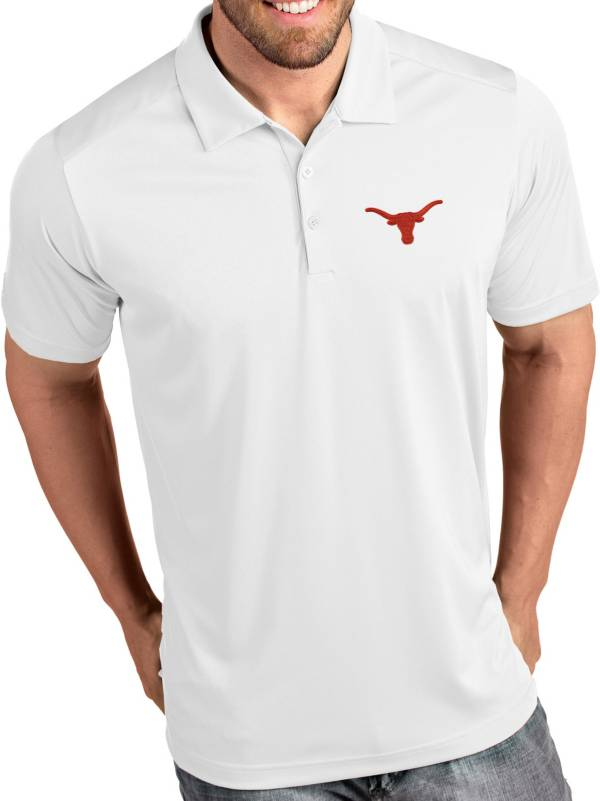Antigua Men's Texas Longhorns Tribute Performance White Polo product image