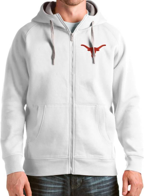 Antigua Men's Texas Longhorns Victory Full-Zip White Hoodie product image