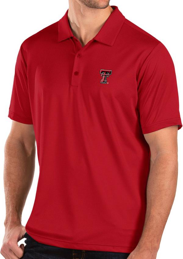 Antigua Men's Texas Tech Red Raiders Red Balance Polo product image