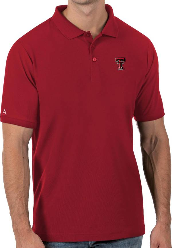 Antigua Men's Texas Tech Red Raiders Red Legacy Pique Polo product image