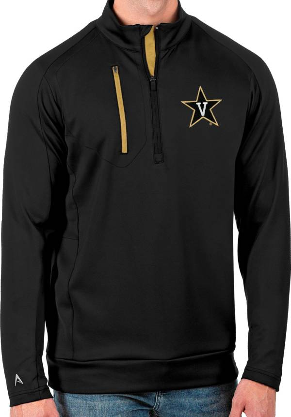 Antigua Men's Vanderbilt Commodores Black Generation Half-Zip Pullover Shirt product image