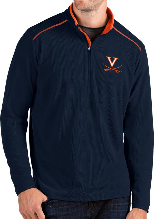 Antigua Men's Virginia Cavaliers Blue Glacier Quarter-Zip Shirt product image