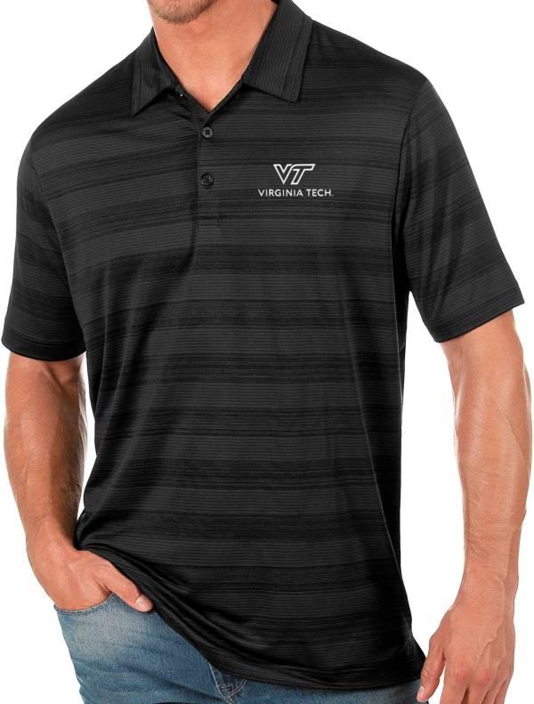 Antigua Men's Virginia Tech Hokies Black Compass Polo product image