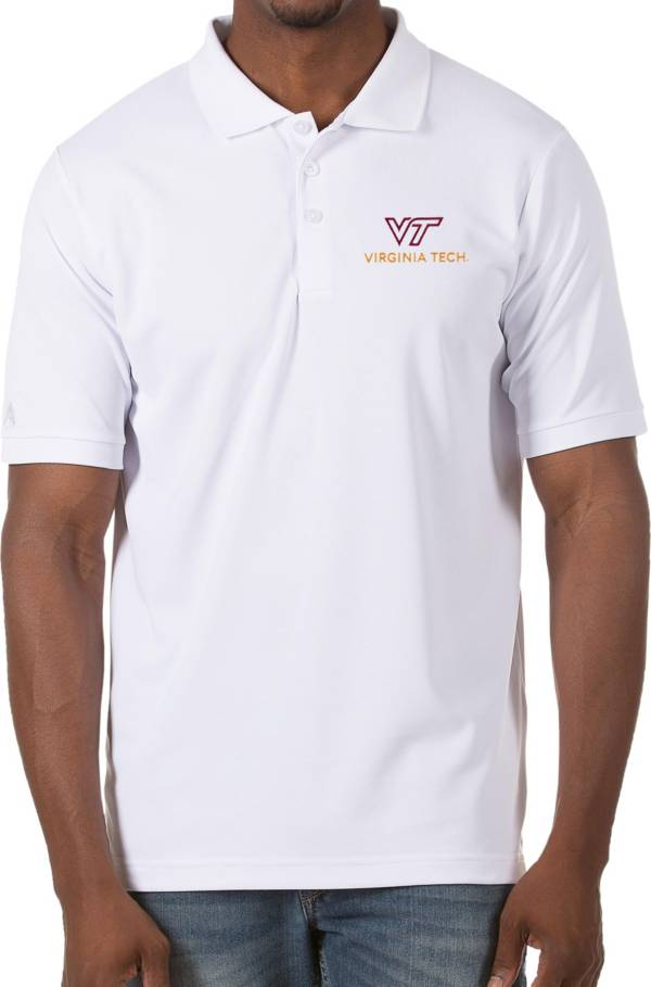 Antigua Men's Virginia Tech Hokies Legacy Pique White Polo product image