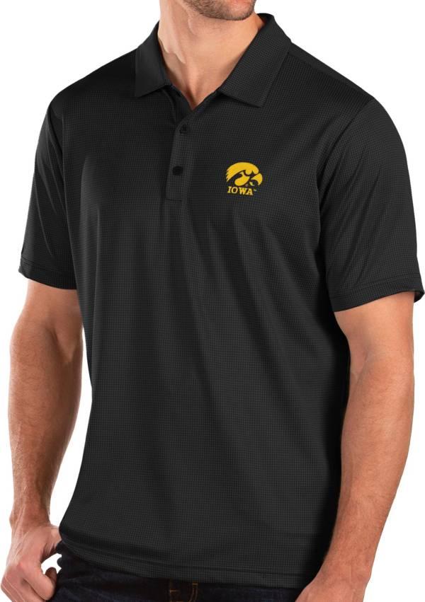 Antigua Men's Iowa Hawkeyes Balance Black Polo product image