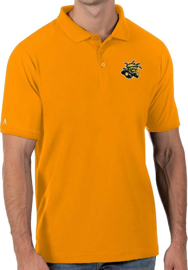 Antigua Men's Wichita State Shockers Gold Legacy Pique Polo product image